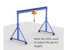 Adjustable Height Gantry Cranes