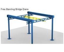 Free Standing Work Station Cranes - 28 Ft. Bridge